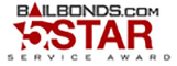 5 star service award bail bond agency
