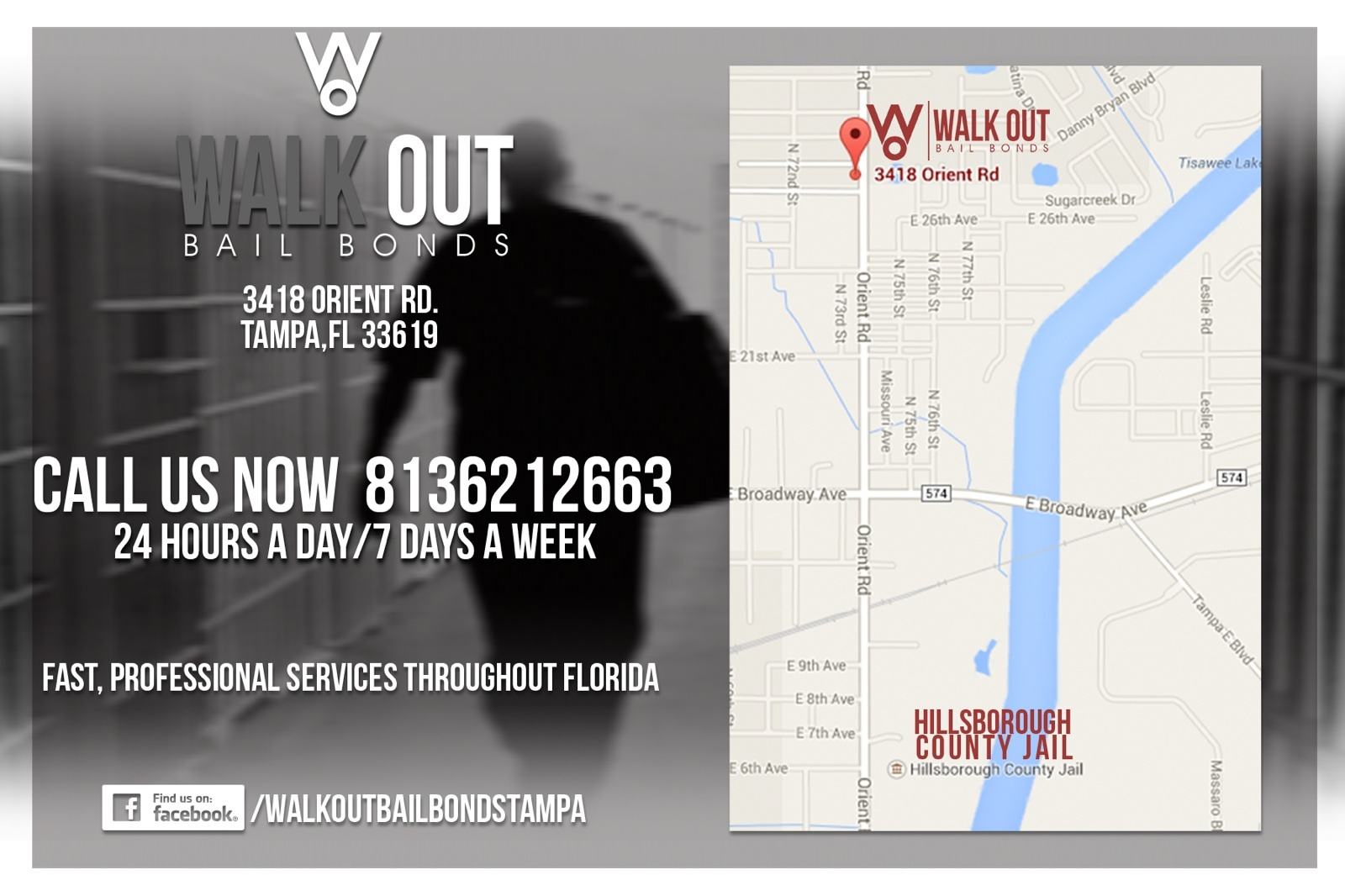Walk Out Bail Bonds Location